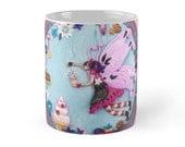 Coffee Mug Fairy Mug Ceramic Mug Cupcake Mug Pink Cake Mug Bakery Decor Cupcake Decor Cupcake Homeware Gift for Cake Lovers Fairy Decor