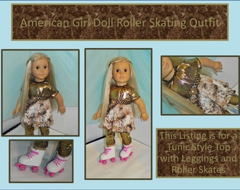 American Girl Doll Roller Skate Outfit Great for Easter, Spring, Summer, and Playtime Fun