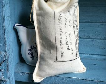 Vintage sack lavender sachet, small sacks, vintage sacks