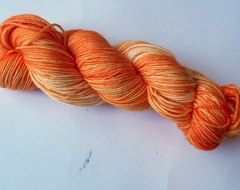 Dreamsicle on SW Merino/Nylon Hand dyed  Max Sport weight  yarn