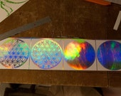 """8"""" Flower of Life Decal holographic"""
