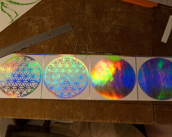 "8"" Flower of Life Decal holographic"