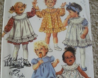Vintage Mccall's  2854 Toddler's dress, Pinafore or sundress and panties  Sz 1/2, 1-2