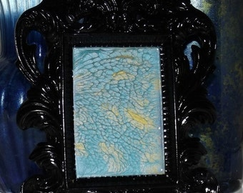 Turquoise Tranquility Hand Painted Glass Art