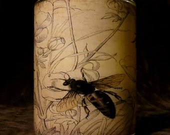 Vintage image of bees Candle holder/ luminary