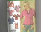 Simplicity Pattern 4124 Misses Top size 16 18 20 22 24