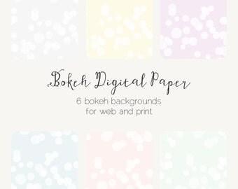Bokeh Effect Polka Dots Web Tiles Digital Paper