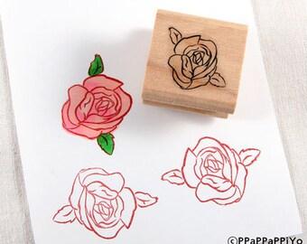 50% OFF SALE Flower Rose Rubber Stamp