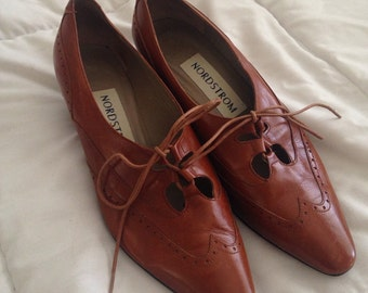 Vintage 60s Leather Oxfords