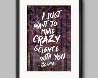 Cosima - Crazy Science - Orphan Black Poster