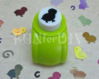 14x14mm medium size paper punch -- chick
