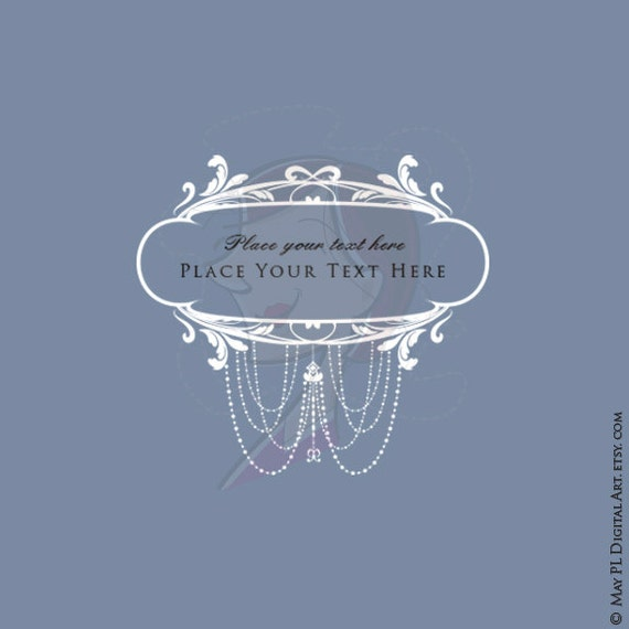Rococo Floral Frames White Clip Art Diy Wedding Invitation