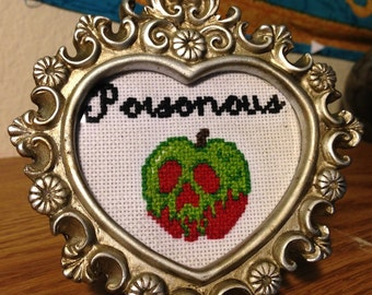Poisonous Apple Framed Cross Stitch