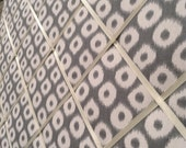 16x20 French Memo Board - grey and white Ikat dots- Unframed