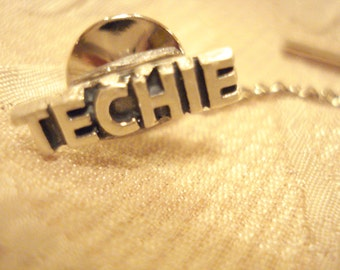 Sterling Silver Techie Tie Tack