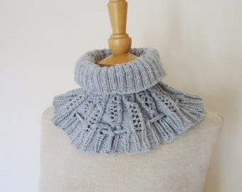 Cowl/Hat in Grey, Drawstring Cowl/Hat, Two-for-One Hat and Cowl, UK Seller