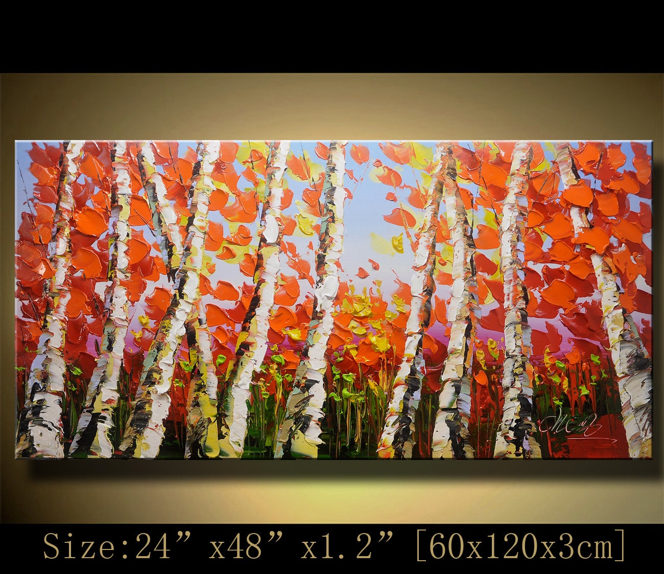 Acrylic painting palette knife paintingcolorful by xiangwuchen for Palette knife painting acrylic