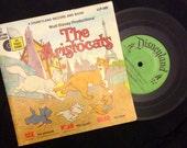 vintage Tunes ... Walt Disney THE ARISTOCRATS - Book and 45 RECORD  ...
