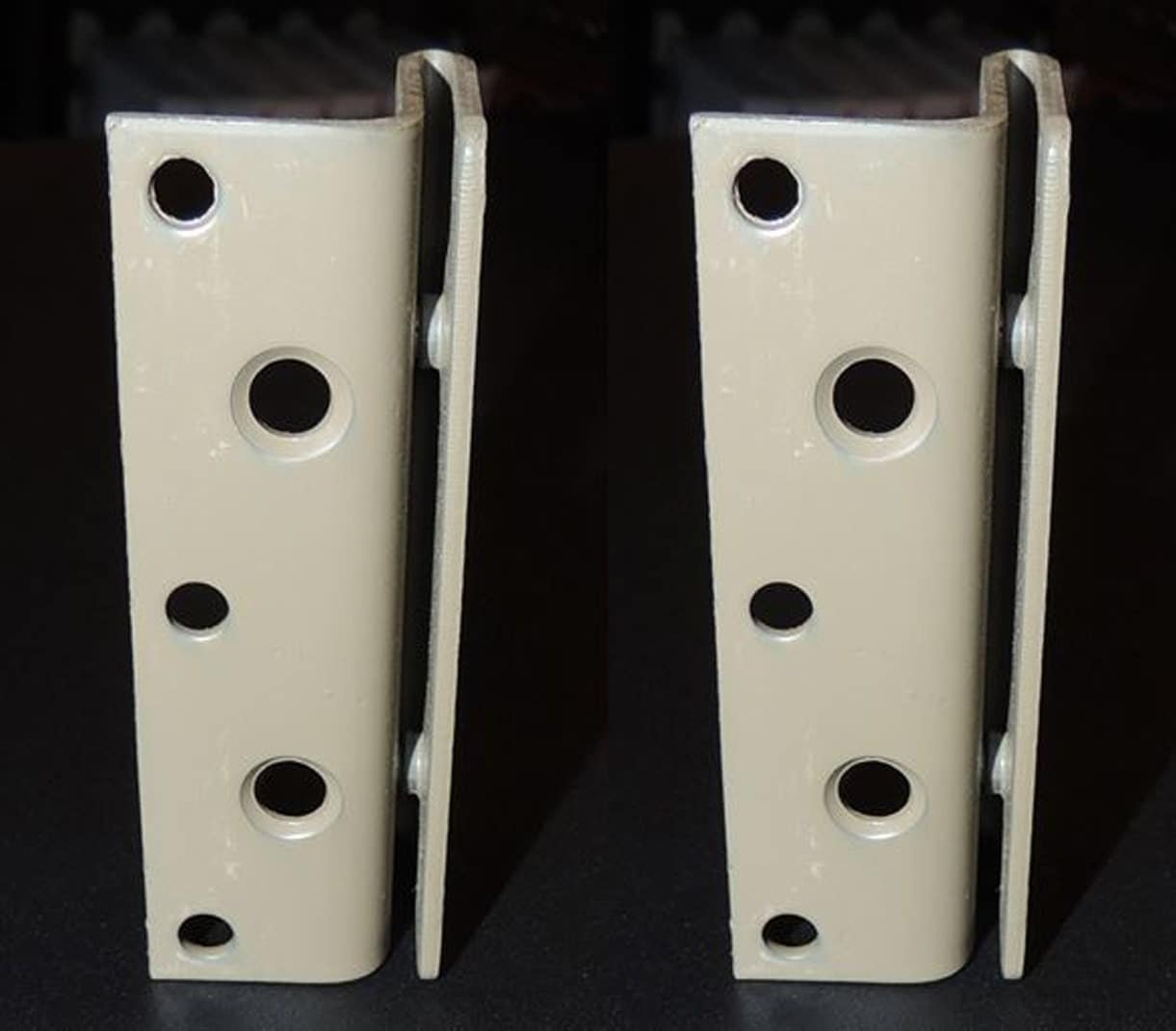 Bed frame to bed post double hook bracket set of 2 for Bed frame hangers