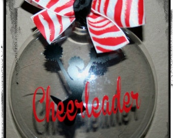 Christmas Ornament Cheerleader Choose Color and Personalize with name or date