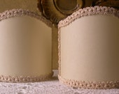 Pair of Wall Sconce Clip-On Shield Shades Parchment Mini Lampshade - Made in Italy