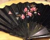 Antique Japanese Silk Folding Fan