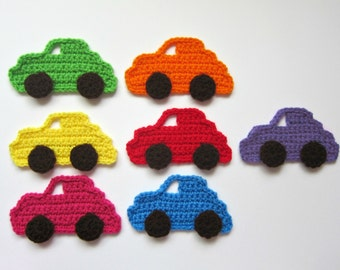 "1pc 5.5"" Crochet CAR Applique"