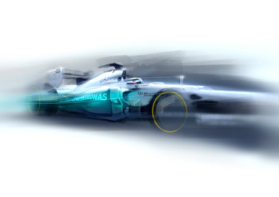 2012 F1 car - Goodwood Festival of Speed Print