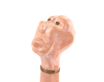 Ceramic sculpture , Head statue , Desk accessories