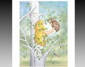 Lady Sycamore Tree Owl Print