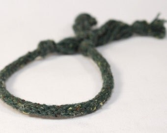 Eco Friendly Mens Bracelet Juniper Green Recycled Fiber Kumihimo Jewelry for Him