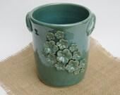 Robins Egg Blue Wine Cooler/Utensil Crock