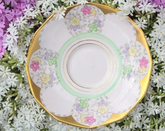 Saucer, Mid Century English Bone China Saucer by Tuscan, Replacement China - c. 1950's