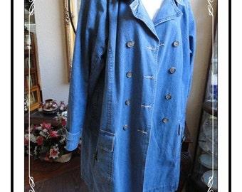 Jacket by Denim & Co. - Snazzy Blue Jean  - Size 1x - CLO-029a-110413020