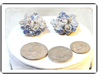 Juliana Blue Earrings - Sparkling Crystal w Baby Blue Rhinestones D&E080a-090412031