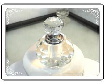 Vintage Perfume Bottle - Round Bottle - Lead Crystal Vintage Perfume with Dauber   PF-1132a-050713015