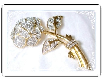 Brooch by Nolan Miller - Sparkling Irresistible Flower  Pin-1362a-062410000