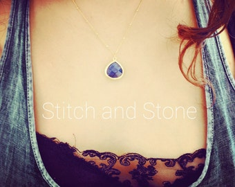 Stone Drop Necklace great for bridesmaids