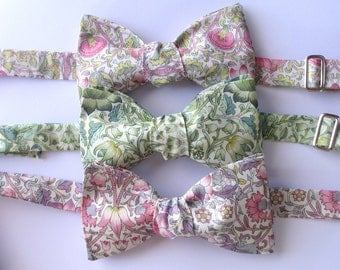"""Mens bowtie  - In a choice of Liberty Print """" Lodden"""" - 3 colorways"""