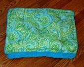 Pet Bed Mat - Machine Washable - Blue Paisley
