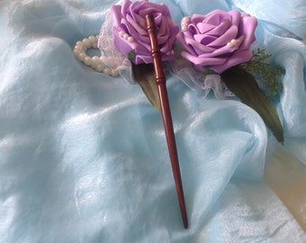 20%OFF OriginalFire Handmade Carved Rosewood Hair Stick / Hair Pin /Hair Updo / Bamboo Style