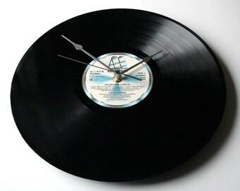 "STEVIE WONDER Vinyl Record Clock Made from recycled 12"" Motown album ""In Square Circle"" Gift for men women geometry maths student teacher"