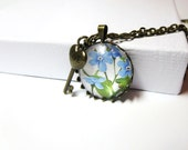 Forget Me Not Flower necklace - Forget Me Not Flower  ring - Flower  Jewelry- Mothers day gift with free gift