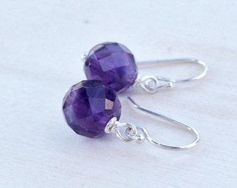 Amethyst Earrings Sterling Silver Amethyst Jewelry Silver Jewelry
