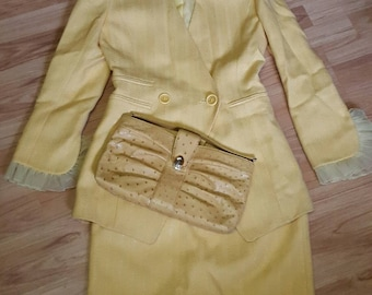 Christian Dior suit with accessories vintage