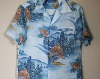 vintage hawaiian shirt by kolekole made in hawaiian men's size S