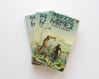 The World of the Tiers Trilogy - Philip Jose Farmer - Vintage Sphere Paperbacks, 2nd Printing, Maker of Universes, The Gates Of Creation