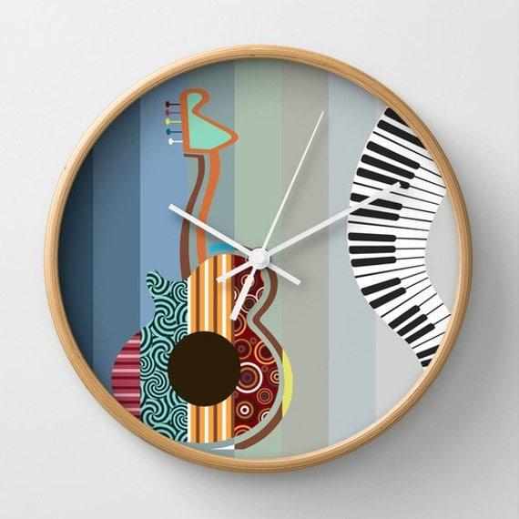 Grande musique abstraite peinture triptyque art mural for Art minimaliste musique