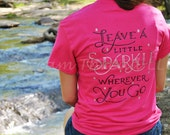Leave a little sparkle wherever you go Monogram Shirt (made to order)