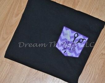 Monogram HairStylist Pocket Tshirt (Made to order)